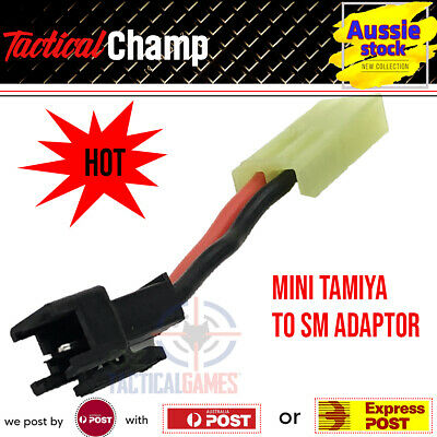AU9.48 • Buy Mini Tamiya To SM Battery Adaptor Plug JM Gen 8 J9 LDT HK416 M4 Gel Blaster Toy