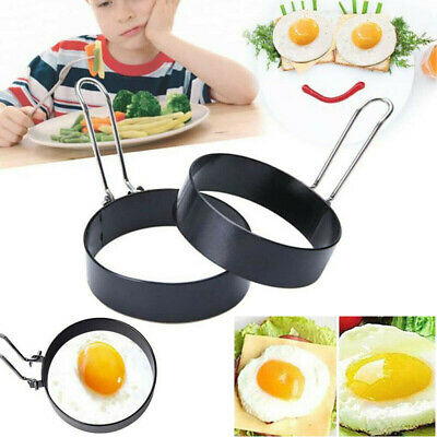 $1.55 • Buy Non Stick Metal Egg Rings Frying Perfect Circle Round Fried/Poached Frying Mould