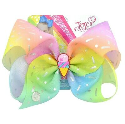 AU11.95 • Buy LATEST! Jojo Siwa Bow Large 8  Bow💕 Ice Cream Gelato Fairy Floss Pastel Rainbow