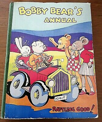 Bobby Bear's Annual Retro Vintage Collectable Children's Hardback Book 1930's • 23.95£