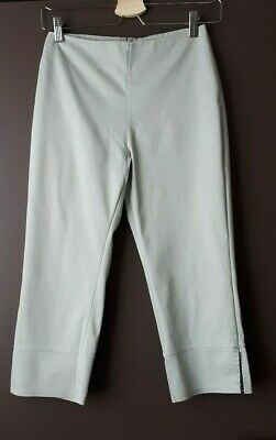 Womens Topshop Light Khaki Cropped / High Waisted / Trousers Size 8 • 7£