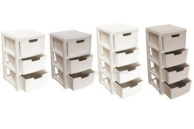 Rattan Style Plastic Storage Towers - Large Towers - Strong - Home - Bathroom • 32.99£
