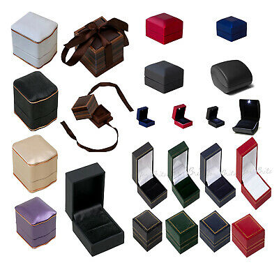 High Quality Leaherette Ring Boxes, For Propasal, Engagement, Diamond Ring Boxes • 6.99£