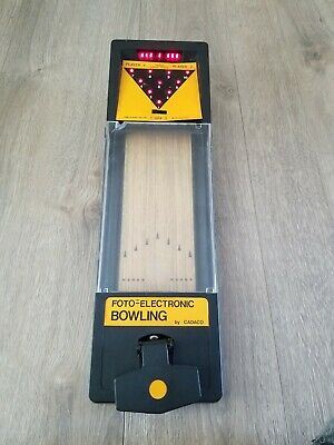 $21.99 • Buy Vintage Foto-Electronic Bowling Game By Cadaco Works Lights And Sounds
