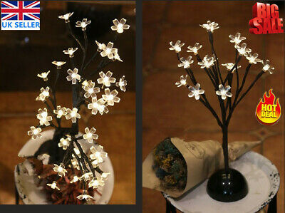 Popular LED Cherry Blossom Tree Bonsai Light Home Decor Bedside Lamp Party Gift • 7.99£