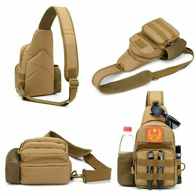 $15.99 • Buy Small Tactical Sling Chest Pack Bag Molle Daypack Backpack IPad Mini Military