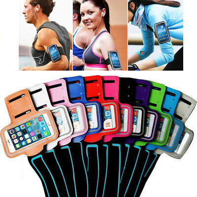 Adjustable Sports Running Jogging Gym Armband Strap Holder Bag Pouch For Samsung • 3.69£
