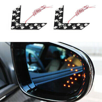 £4.73 • Buy 2PCS Car Side Rear View Mirror 14-SMD LED Lamp Turn Signal Light Accessories Kit
