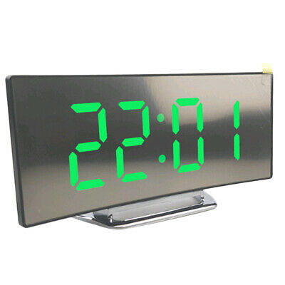 LED Display Alarm Clock Digital Projection Clock With 12/24 Hours Clock Green • 10.14£