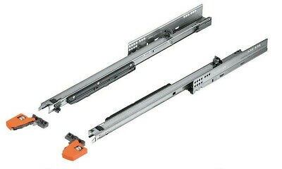 Blum Movento 550 Full Extension Soft Close Drawer Runners (L/R Pair) With Clips • 35£