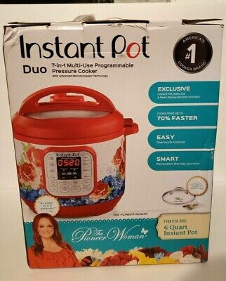 $103.99 • Buy Open Box-The Pioneer Woman Instant Pot DUO60 7-in-1 Frontier Rose 6-Quart