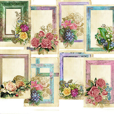 £2.99 • Buy Card Toppers Victorian Frames, Flowers, Vintage Card Making, Tags,scrapbooking