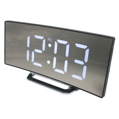 LED Display Alarm Clock Digital Projection Clock With 12/24 Hours Clock White • 10.10£