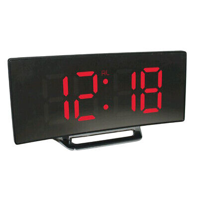 LED Display Alarm Clock Digital Projection Clock With 12/24 Hours Clock -Red • 10.24£