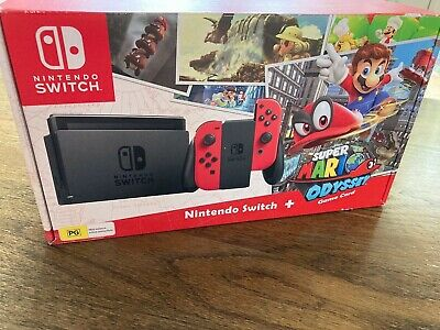 AU729.99 • Buy Nintendo Switch Super Mario Odyssey Edition (with Red Joy-Cons) 32GB Red Console