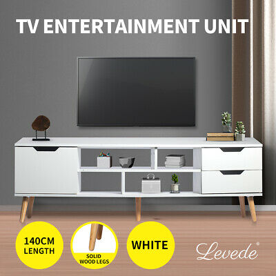 AU139.99 • Buy Levede TV Cabinet Entertainment Unit Stand Storage Drawers Wooden Shelf White