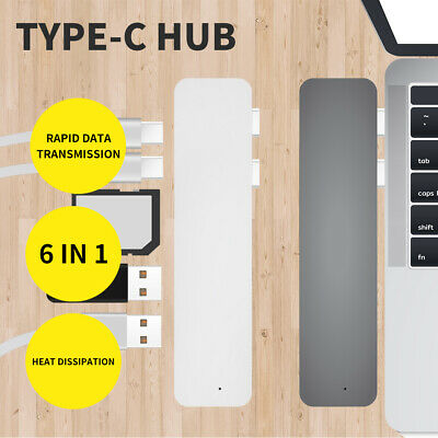 AU29.99 • Buy USB 3.0 Type-C HUB 6 Port Powered Adapter High Speed Splitter For Macbook Pro