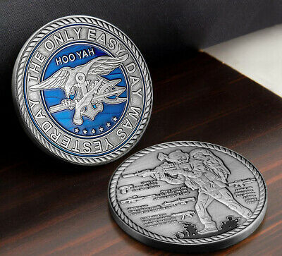 $10.18 • Buy Navy Seals Challenge Coin Weapons Silver Military Hardware Collectible