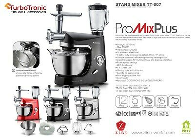 View Details Stand Food Mixer/processor,ProMixPlus TT-007 Quality Attachments , Max 2000w    • 139.95£