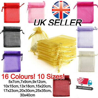 £3.99 • Buy Organza Gift Bags Luxury Jewellery Pouch XMAS Wedding Party Candy Favour
