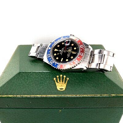 $ CDN46721.90 • Buy VINTAGE Rolex 1675  Pepsi GMT Master Gilt Rare Underline Dial 50's To Early 60s