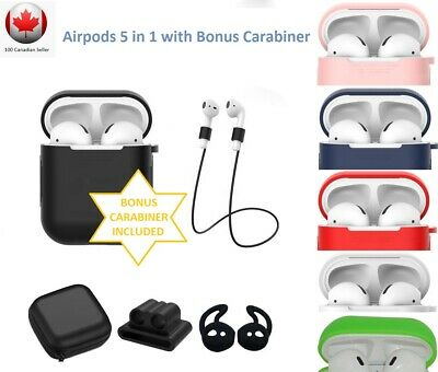 $ CDN7.99 • Buy Silicone Case For Apple Airpods Protective Skin Cover Airpod 1 2 W/ Accessories
