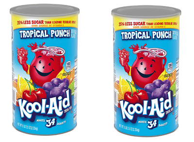 £18.05 • Buy  Kool-Aid Tropical Punch Juice Mix 2 X 82.5oz Canisters Vitamin C Party Kosher