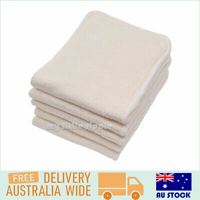 AU24.99 • Buy 7 Bamboo Nappy Inserts / Liners For Modern Cloth Nappies