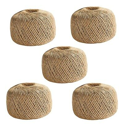 £5.45 • Buy 100m-1000m 3 Ply Jute Twine Natural Brown Soft Sisal String Rustic Cord Shabby