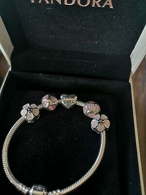 AU260 • Buy Pandora Bracelet With Charms W.Baby Girl Print Brand New/unwanted Gift RRP 386AU
