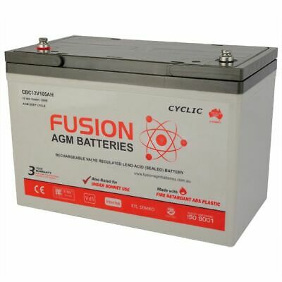 AU301 • Buy 12v N70ZZ 105AH DEEP CYCLE 4WD  BATTERY SSB FUSION CBC12V105AH >100AH