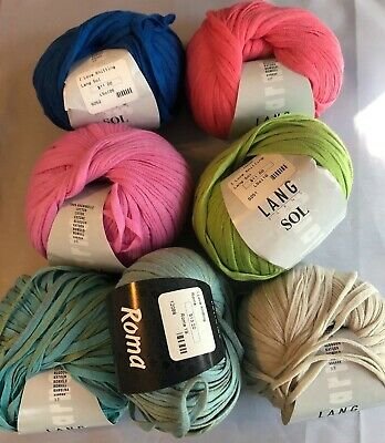 $6.50 • Buy Lang Sol & Lana Grossa Roma ~100% Very Soft Ribbon Yarn ~Your Choice Of Colors!