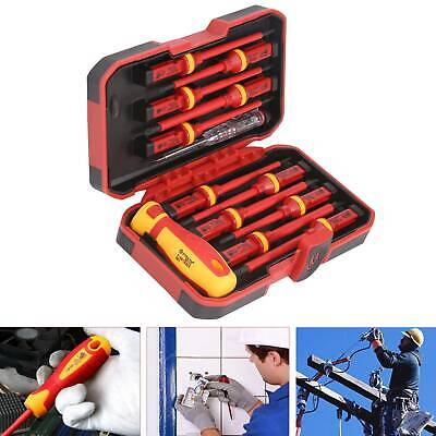 £16.99 • Buy 13pc Electricians Hand Screwdriver Set Tool 1000V Electrical Fully Insulated Kit
