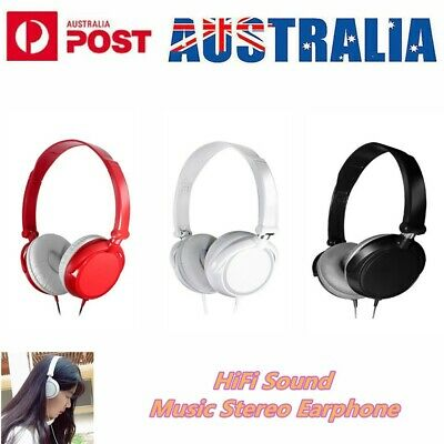 AU18.88 • Buy Noise Cancelling Wired Headphones Bass HiFi Stereo Sound Music Earphone Over Ear