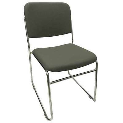 AU99 • Buy Visitor Sled Base Stackable Chair Boardroom Meeting Waiting Room Rod Fabric Grey