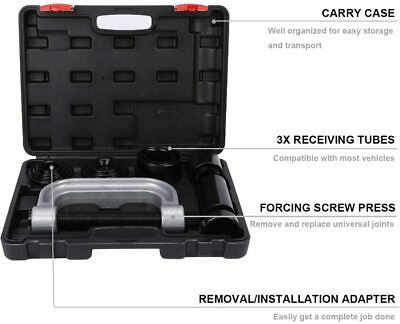 $68.99 • Buy Heavy Duty Ball Joint Press & U Joint Removal Tool Kit With 4x4 Adapters