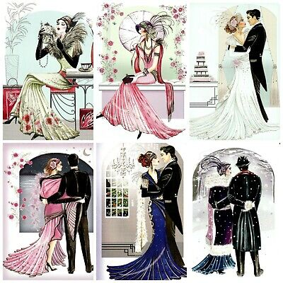 £2.90 • Buy JUST THE TWO OF US ART DECO Card Making Toppers, Card Toppers (12)