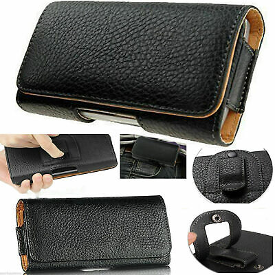 £4.99 • Buy Universal Belt Pouch Clip Hip Loop Case For Mobile Phone Cover PU Leather Wallet