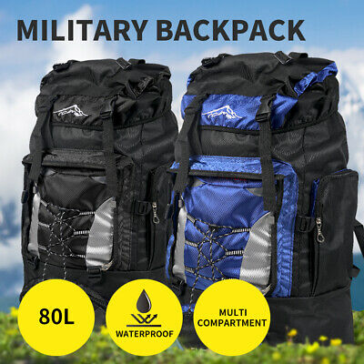AU29.99 • Buy Military Backpack Tactical Camping Hiking Travel Rucksack Outdoor Trekking 80L