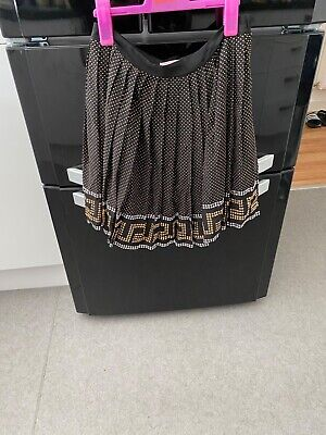 £80 • Buy Black H&m Versace Skirt, Gold And Silver Studs Grecian BNWOT