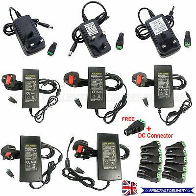 £5.58 • Buy UK Stock Power Supply Adapter AC To DC 12V 2A 3A 5A 6A 8A 10A LED Light Strip