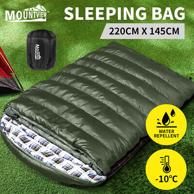 AU59.99 • Buy Mountview Sleeping Bag Double Bags Outdoor Camping Hiking Thermal -10℃ Tent