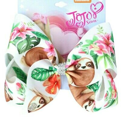 AU13.95 • Buy LATEST! Jojo Siwa Bow Large 8  Festival Party, 🌺 Sloth In The Jungle