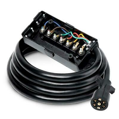 $37.88 • Buy 7 Way Trailer Plug Wire Connector Inline Cord 7 Pin Inline Harness Kit 8 Feet