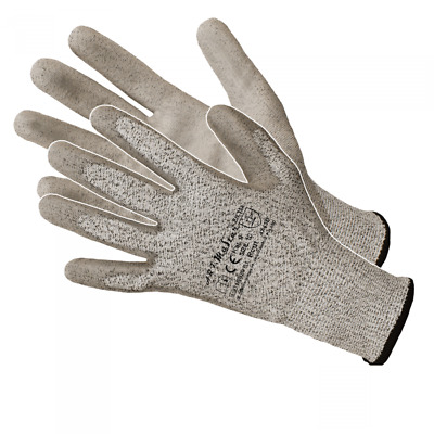 £3.49 • Buy Pu Anti Cut Resistant Work Safety Gloves Builders Grip Protection Level 5