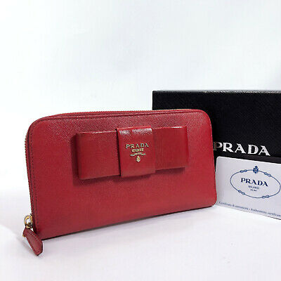 PRADA Purse 1M0506 Round Zip Safiano Leather Women • 129.53£