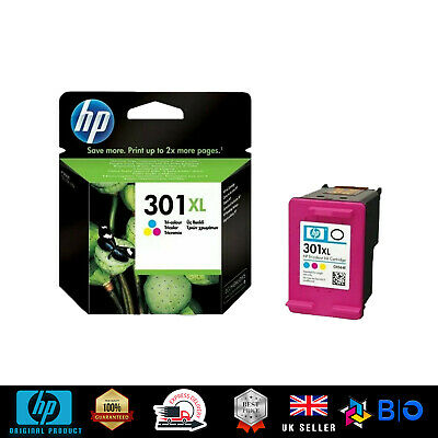 HP 301XL Tri-colour Ink Cartridge! ORIGINAL UP To 300 Pages  • 28£