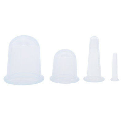 Silicone Anti Cellulite Vacuum Cupping Body Facial Therapy Massage Cups Lin • 6.43£