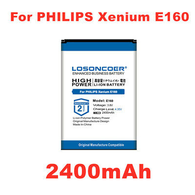 $20.38 • Buy LOSONCOER E160 2400mAh Battery For PHILIPS Xenium E160CCC CTE160 Pro CTE160
