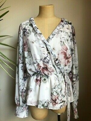 AU20 • Buy Witchery Floral Cross Over Wrap Blouse